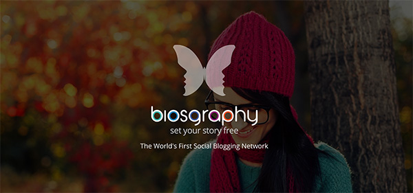 Biosgraphy about page screenshot
