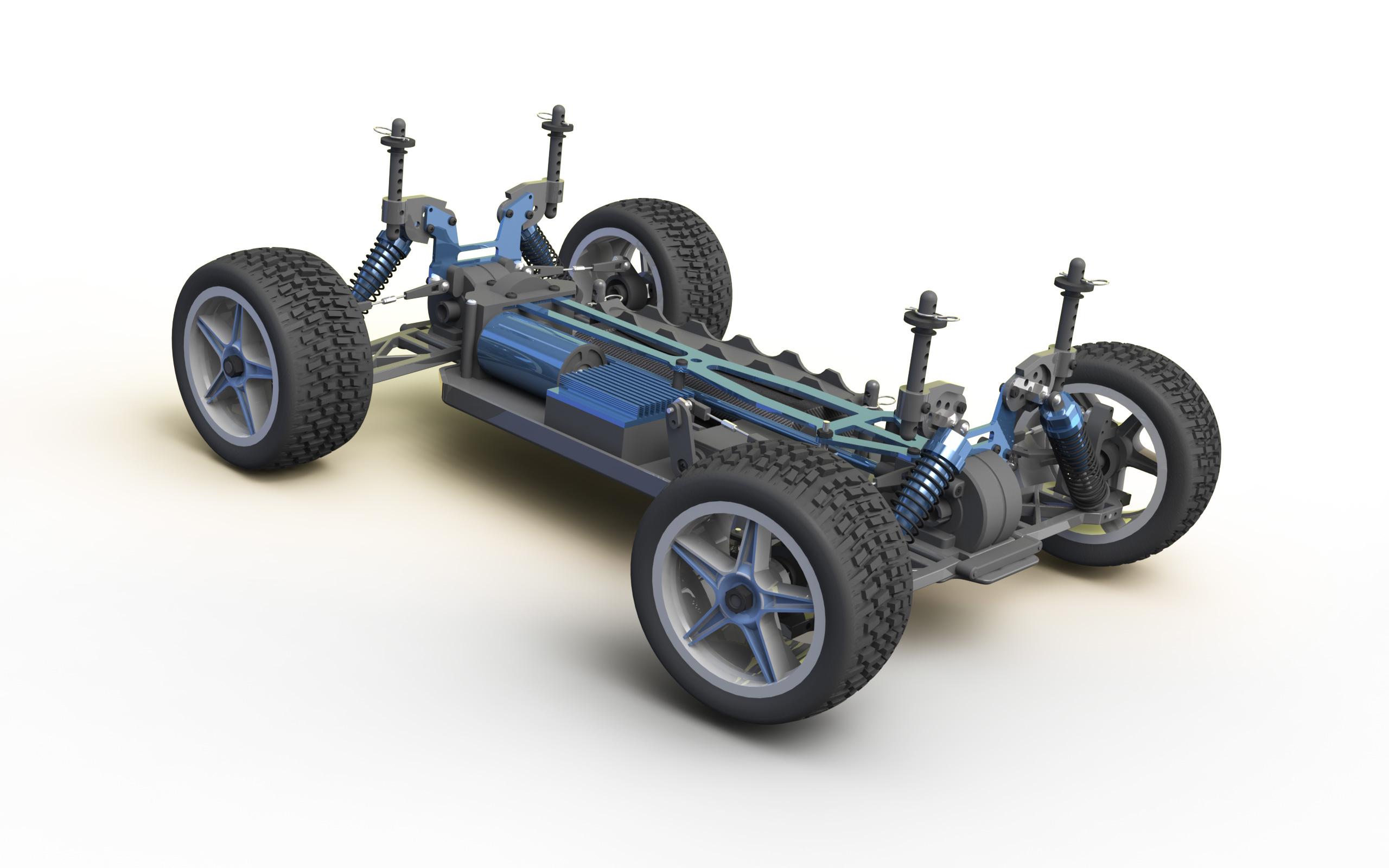 Rc Track Cars >> RC Car Solidworks Model | Alex Louden